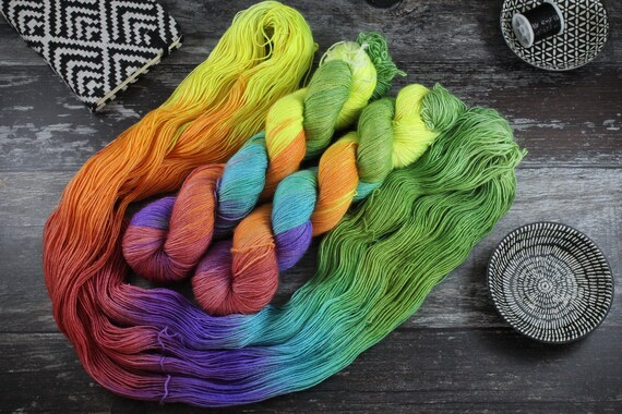 Hand Dyed Merino/Silk Single Twist - Circus
