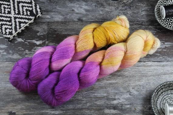 Hand Dyed Lace Merino Yarn - Aladdin