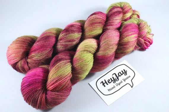 Hand Dyed Ultimate Sock Yarn, BFL High Twist - Fools Gold