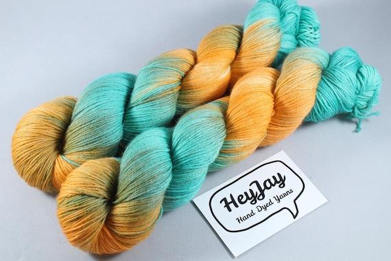 Hand Dyed Sock Yarn Superwash Merino/Nylon - Go Fish
