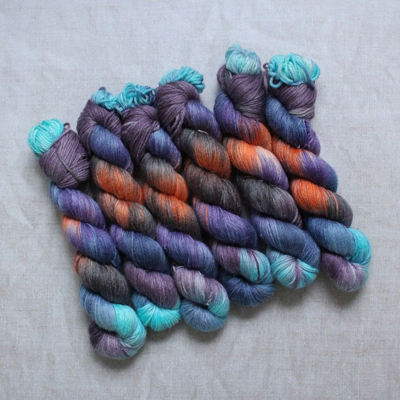 DK Yarn, Merino and Bamboo - About last night