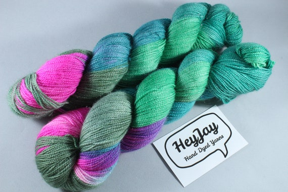 Hand Dyed Sparkle Sock Yarn
