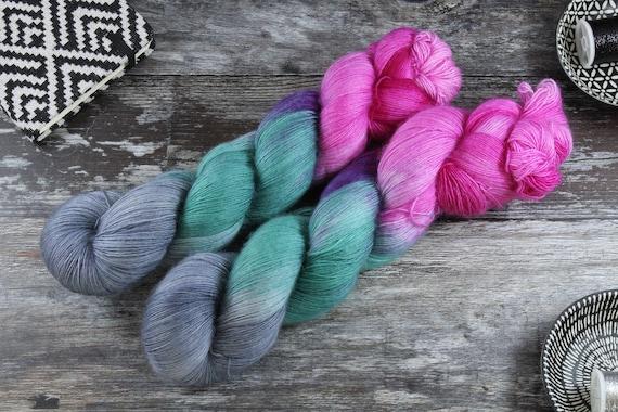 Hand Dyed Lace Merino Yarn - Mirror Mirror