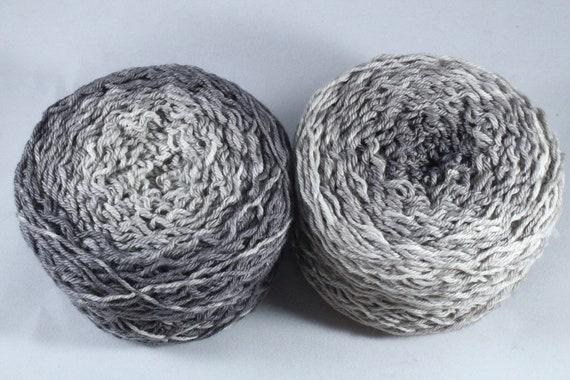Hand Dyed DK Merino Nylon Ombré Yarn - Slate