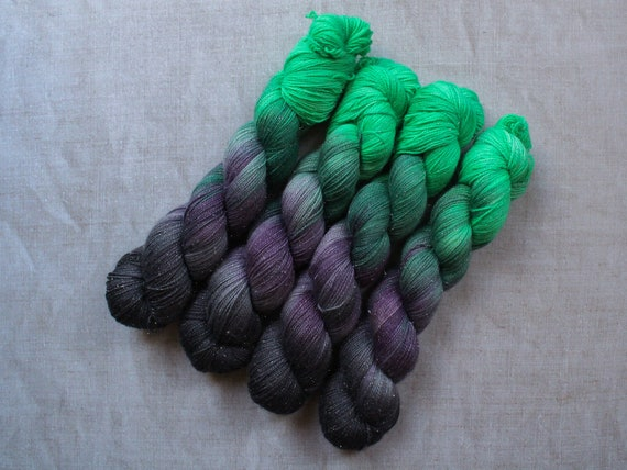 Hand Dyed Sparkle Sock Yarn - Potions Class