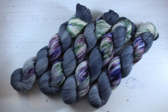 Hand Dyed Ultimate Sock Yarn, BFL High Twist, Micro Self Striping Yarn - It's a kind of magic