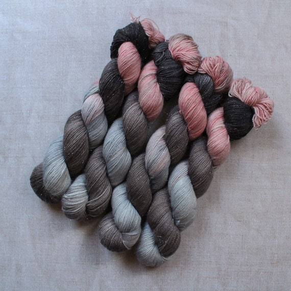 Hand Dyed Sparkle Sock Yarn - Cruella