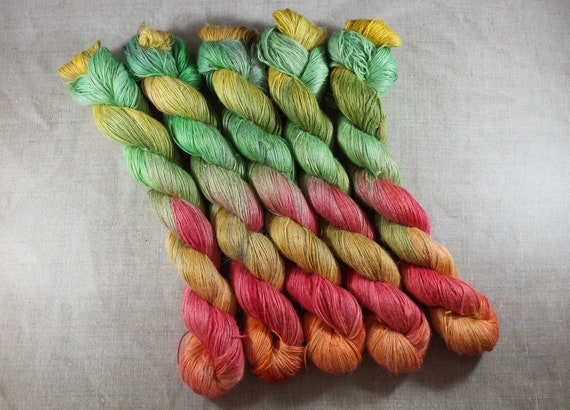 Hand Dyed Planty Yarn, Plant Yarn, Natural Fibres, Plant Based Yarn, 4ply Yarn, Fingering Weight Yarn - Wake me up when September ends