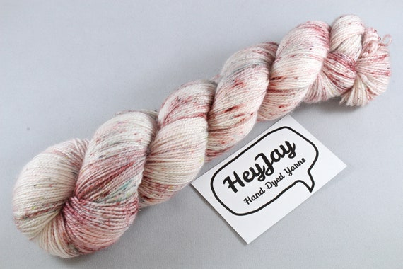 Hand Dyed Sparkle Sock Yarn - Hey Specks