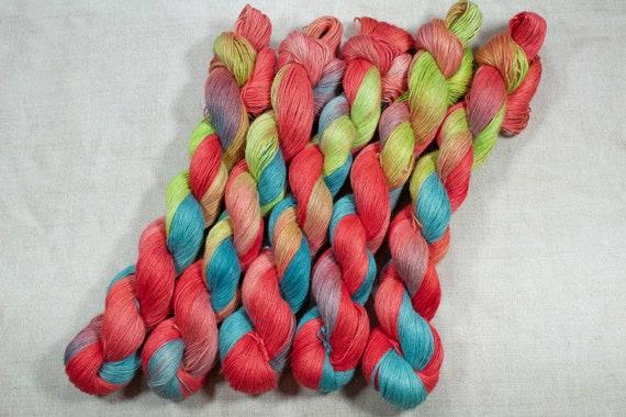 Hand Dyed Planty Yarn, Plant Yarn, Natural Fibres, Plant Based Yarn, 4ply Yarn, Fingering Weight Yarn - Orchard