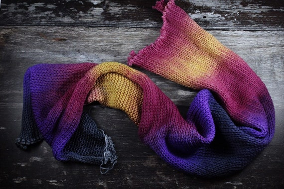 Hand Dyed Double Stranded Sock Blank, Sock Yarn, Superwash Merino/Nylon, 100g/425m