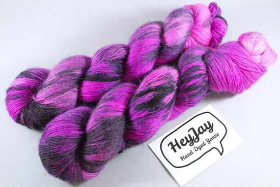 Hand Dyed Sock Yarn Merino, Alpaca, Nylon Blend - Emolicious