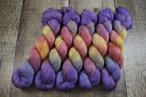 Silky Alpaca Fingering Weight, 4ply, Yarn - Radiant