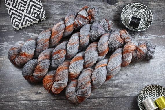 Hand Dyed Sock Yarn Superwash Merino/Nylon - Rustbucket