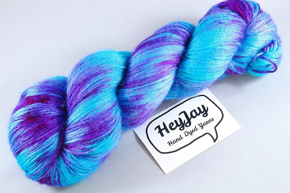 Plus Size Skein, Hand Dyed Sock Yarn 4ply, 150g/600m, BFL and Silk - Mermaid