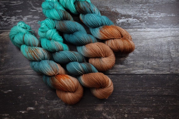 Hand Dyed Sock Yarn Superwash Merino/Nylon - Now or Never