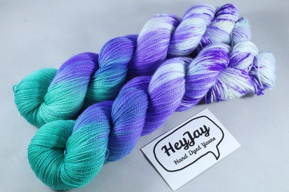 Hand Dyed Sock Yarn, Superwash Merino/Nylon - Pluto