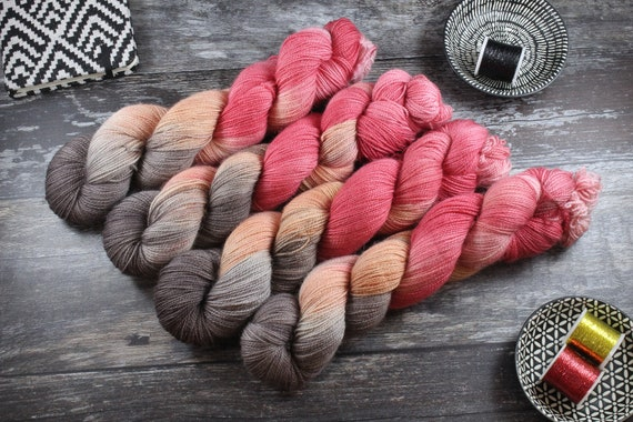 Hand Dyed Ultimate Sock Yarn, BFL High Twist - Martian