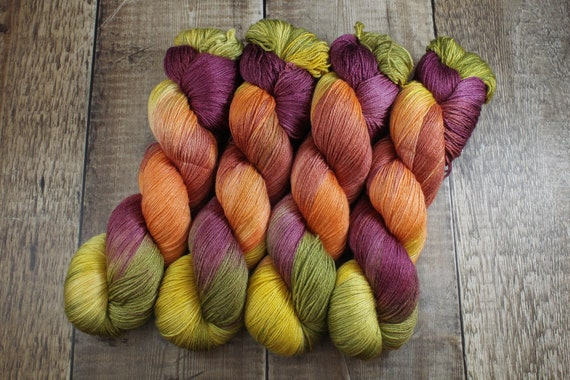 Hand Dyed Sock Yarn, 4ply, Plus Size Skein, 150g/600m, BFL and Silk - Candy Apple