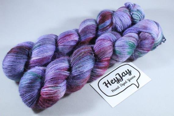 Hand Dyed Sock Yarn, Merino, Alpaca, Nylon Blend - Swish