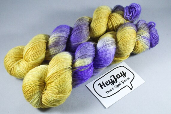 Hand Dyed Sparkle Merino Sock Yarn - Mini Egg