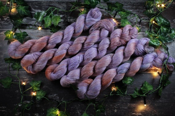 Hand Dyed Planty Yarn, Vegan Yarn, Plant Yarn, Natural Fibres, Plant Based Yarn, 4ply Yarn, Fingering Weight Yarn - Buddleia