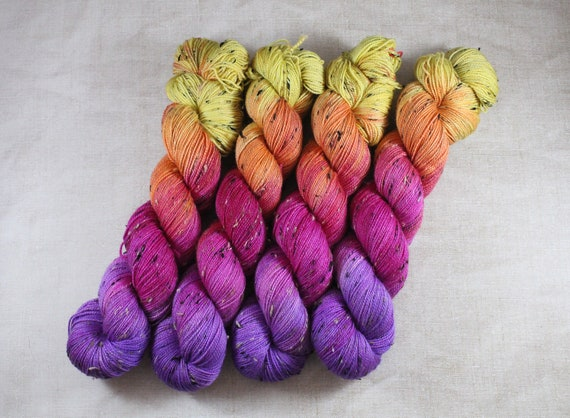 Donegal Tweed Sock Yarn - Merino/Nylon - Sunshine Daiquiri