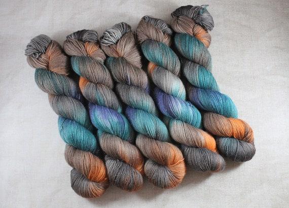 Hand Dyed Sparkle Sock Yarn - Streetlights
