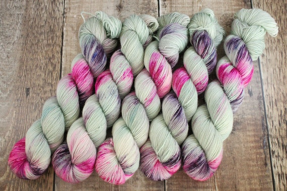 Hand Dyed Sparkle Sock Yarn - I Am Not A Number, Megababes Collection