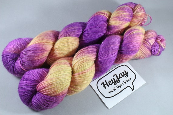 Hand Dyed Sparkle Sock Yarn - Rock Candy