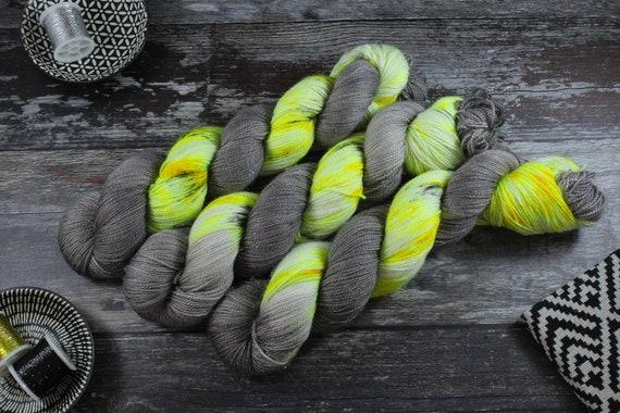 Hand Dyed Sparkle Sock Yarn - Zombie Apocalypse