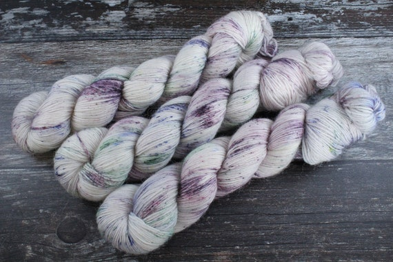 Hand Dyed Alpaca/Merino/Nylon Sock Yarn - Ink Spill