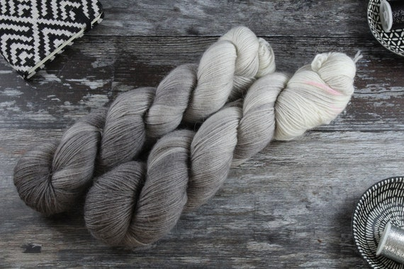 Hand Dyed Sock Yarn Merino, Alpaca, Nylon Blend - Slate