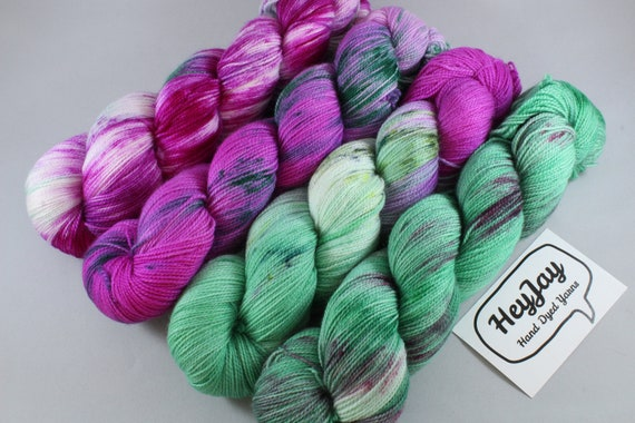 Hand Dyed Sock Yarn, Project Pack, Fade Kit, 4 x 100g/425m, Merino, Nylon, Superwash