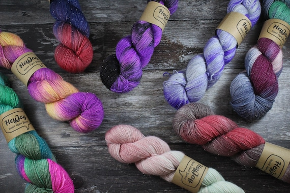 MYSTERY SKEIN - Hand Dyed Sparkle Sock Yarn
