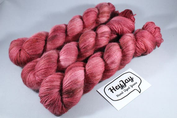 Hand Dyed Sock Yarn Merino, Alpaca, Nylon Blend - Bootstrap