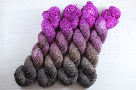Hand Dyed Sparkle Sock Yarn - Love Yourself