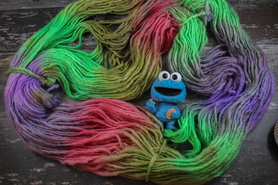 XL Hand Dyed Chunky Yarn, Yarn Beast, 250g - Heart Shaped Box