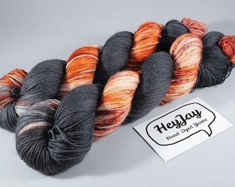 Hand Dyed Sock Yarn Superwash Merino - Pumpkin King