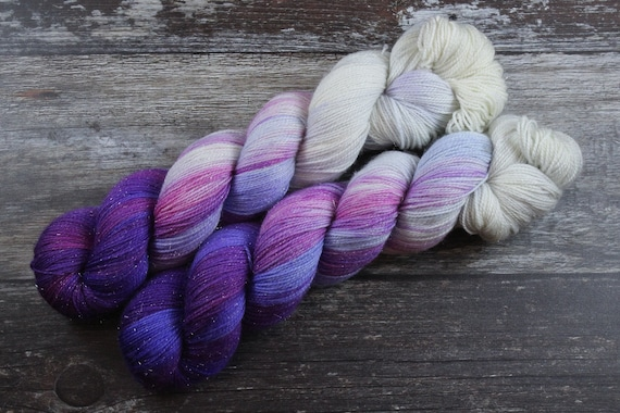 Hand Dyed Sparkle Sock Yarn - Stained Window