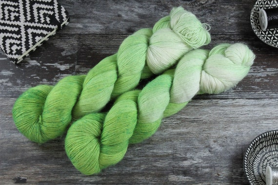 Hand Dyed Lace Merino Yarn - Freshly Cut