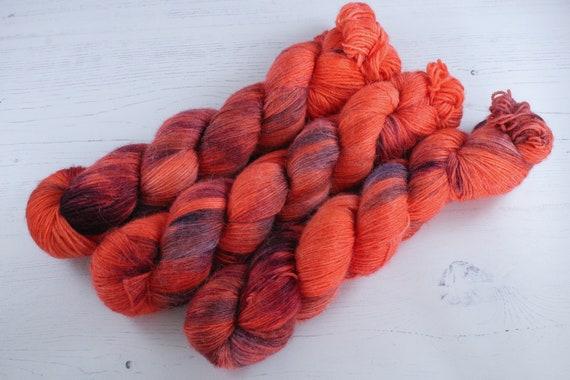 Hand Dyed Alpaca/Merino/Nylon Sock Yarn - Racercar