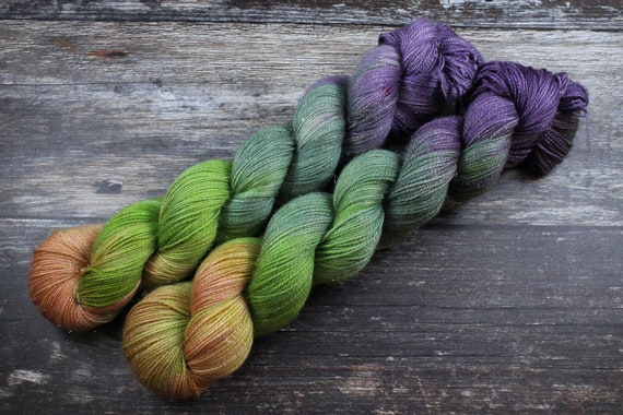 Hand Dyed Sparkle Sock Yarn - Jerome