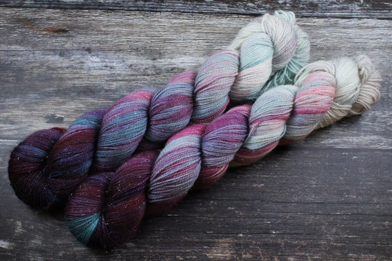 Hand Dyed Sparkle Sock Yarn - You're my wench now