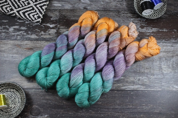 Hand Dyed Merino/Silk Single Twist - New Year New Me