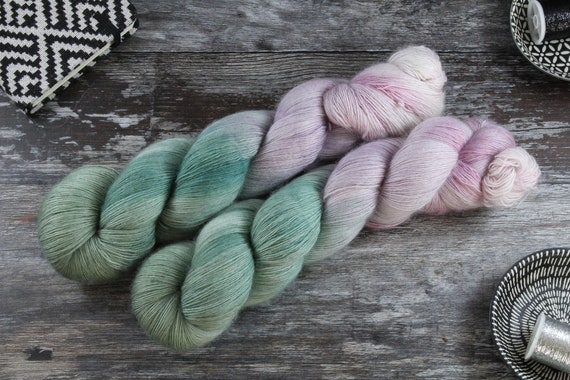 Hand Dyed Lace Merino Yarn - G'morning