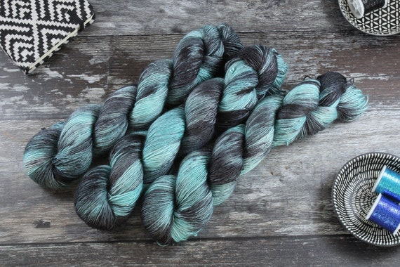 Hand Dyed Merino/Silk Single Twist - Thunderous