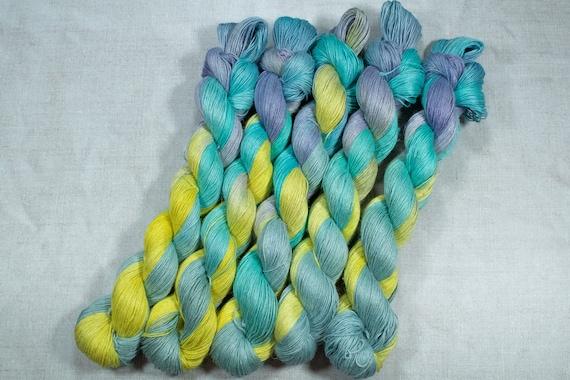 Hand Dyed Planty Yarn, Plant Yarn, Natural Fibres, Plant Based Yarn, 4ply Yarn, Fingering Weight Yarn - Hazy Days