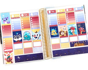 Fairytale Sidekicks Planner Stickers Weekly Kit - For use with vertical layout planners (1.5 inch wide columns)