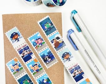 Postal Friends Stamp Washi Tape 25mm x 5m
